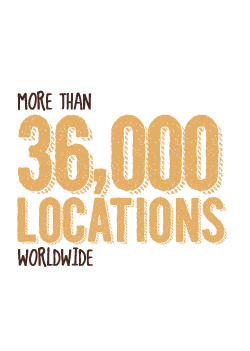 More than 36,000 Locations Worldwide