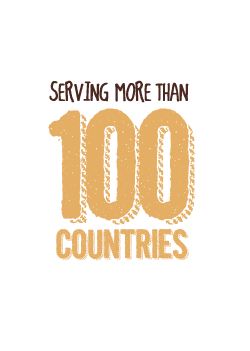 Serving over 100 Countries