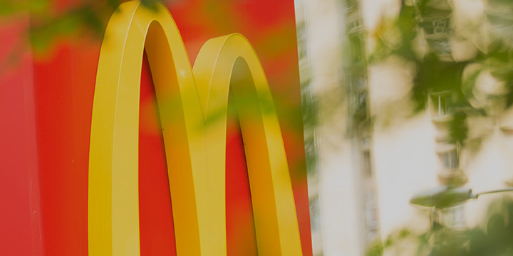 Outdoor McDonald's signage