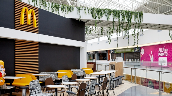 McDonald's seating area