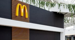 McDonald's Golden Arches on the side of a restaurant
