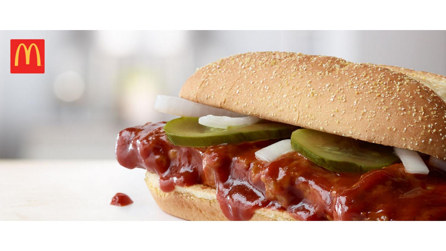 The iconic McRib sandwich