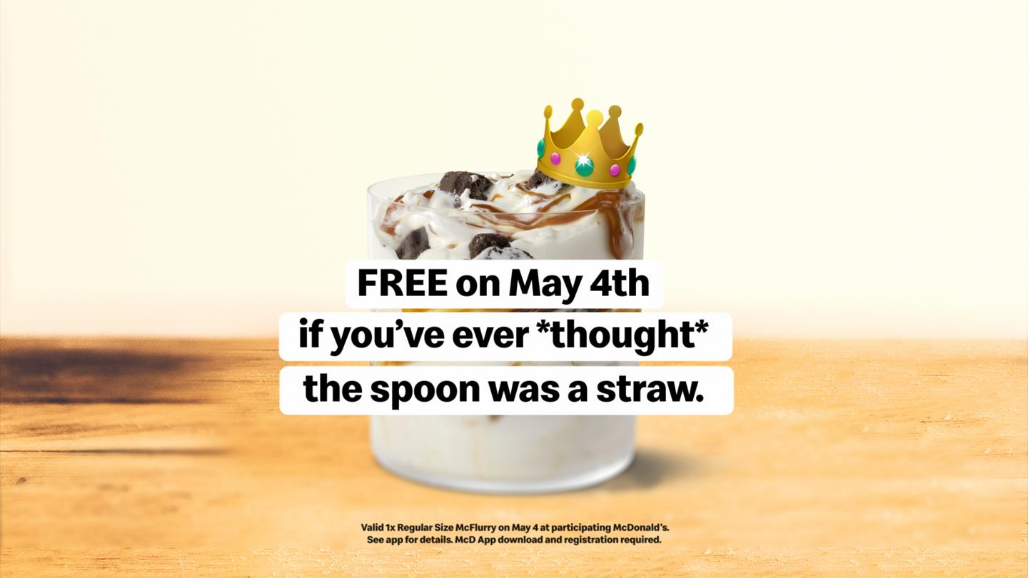 free caramel brownie McFlurry