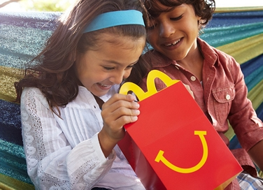 children with a happy meal